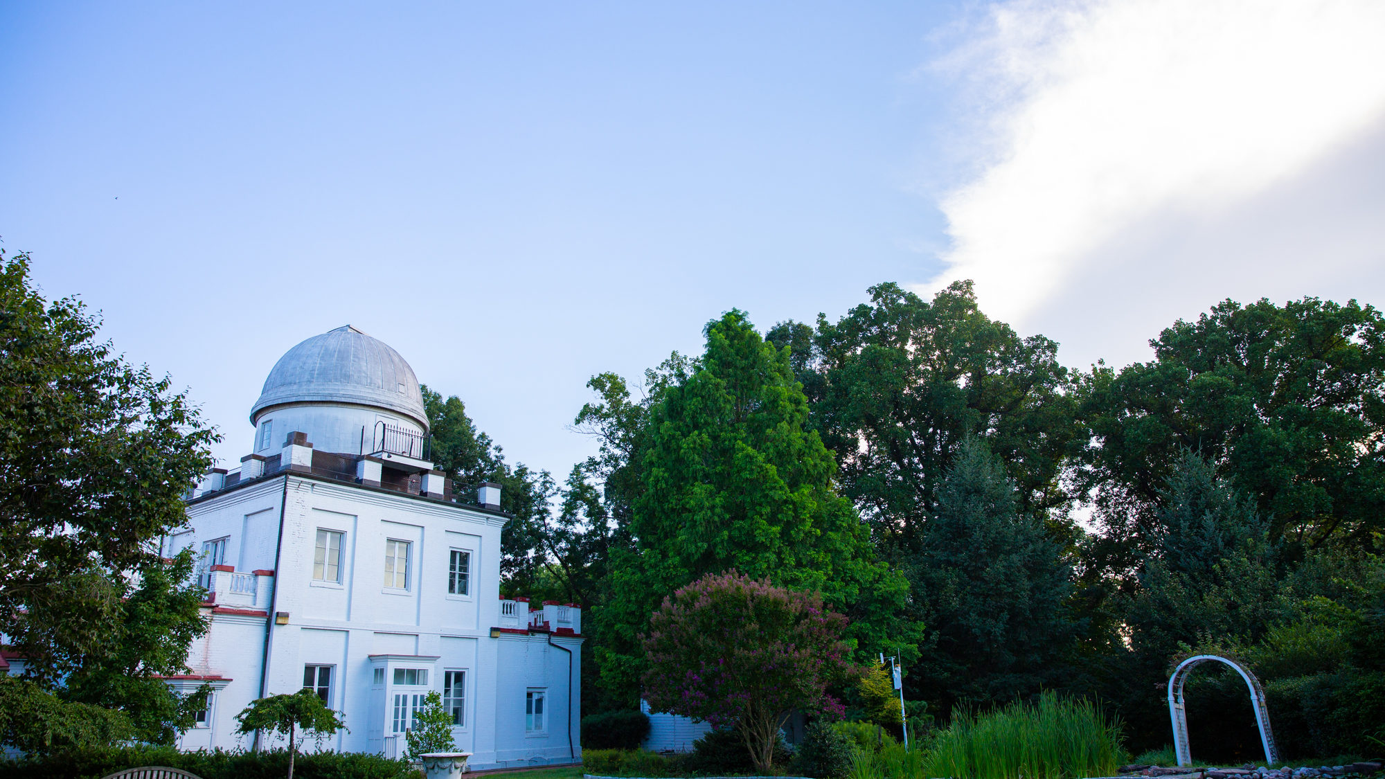 Wide shot of the observatory on a bright sunny day