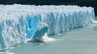 Large iceberg melting.