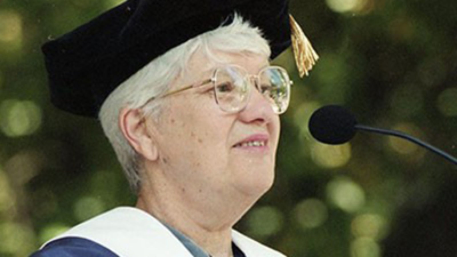 Vera Rubin in cap and gown