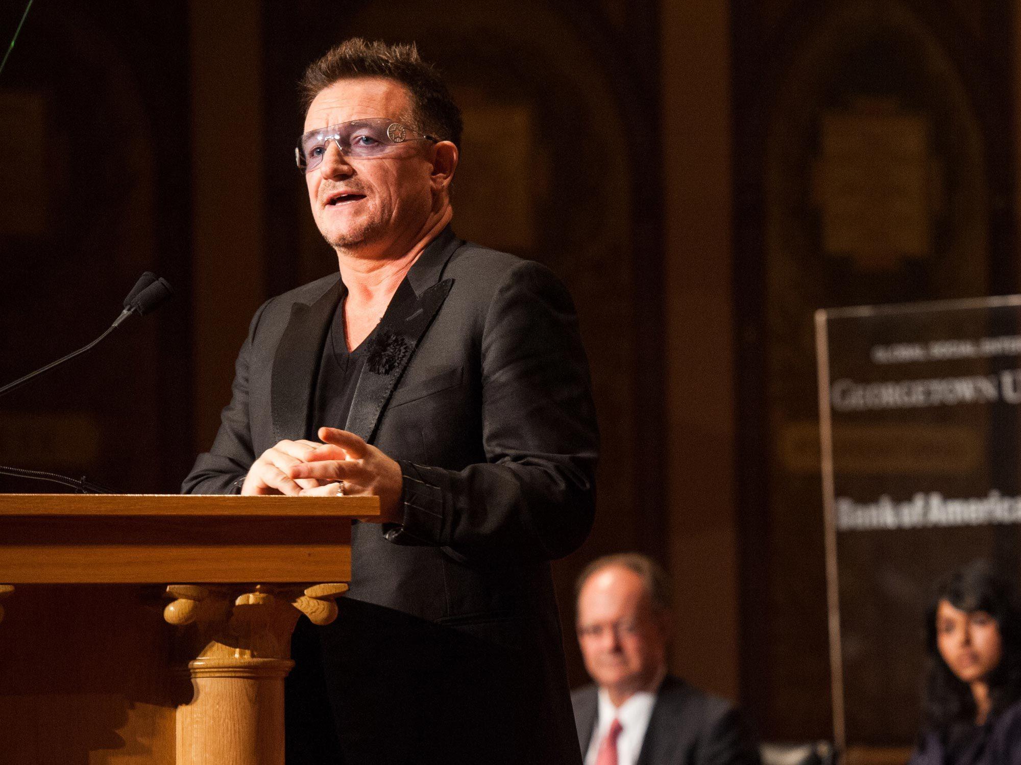 Bono speaks at Georgetown