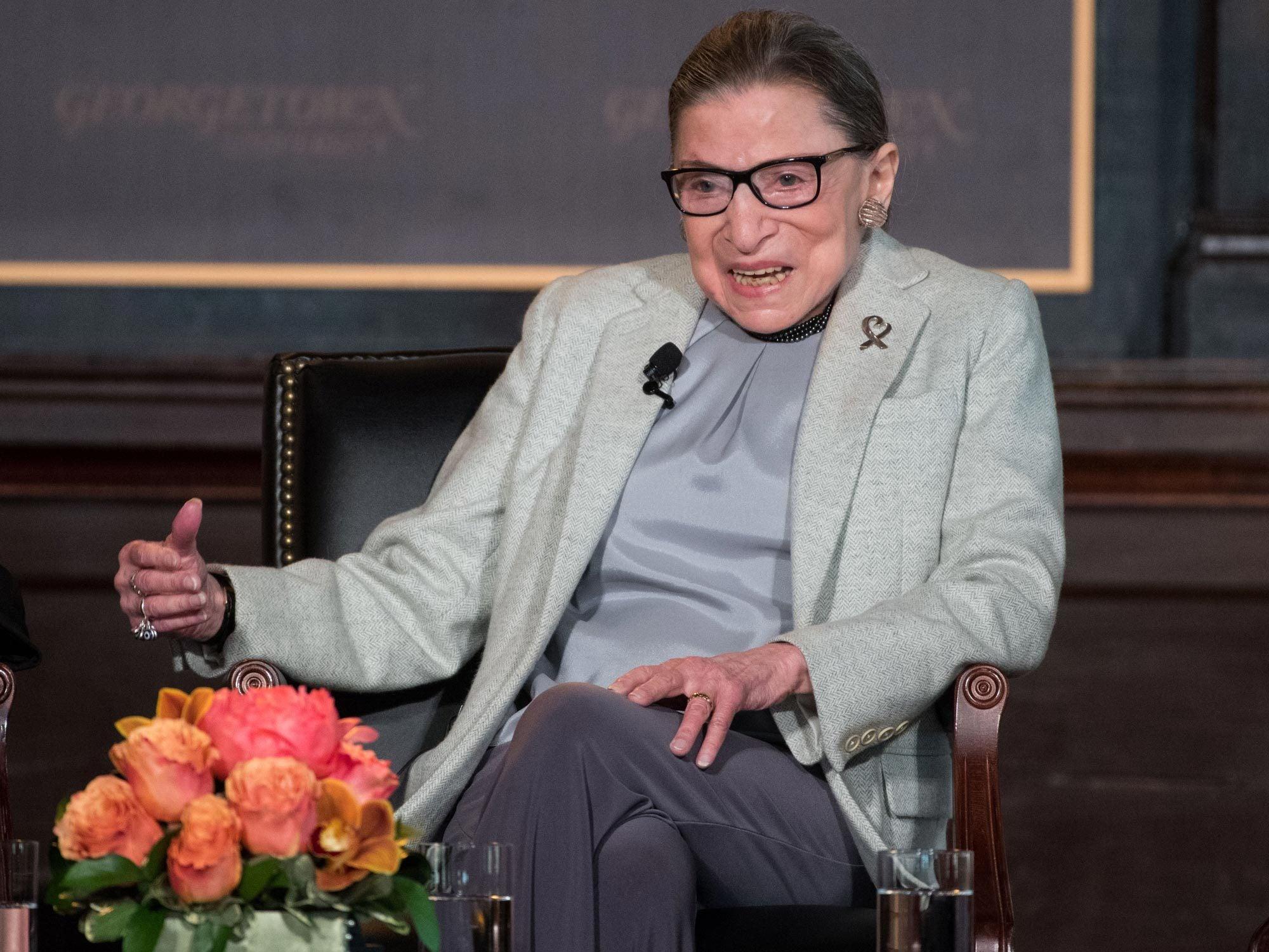 Ruth Bader Ginsberg speaks in Gaston Hall