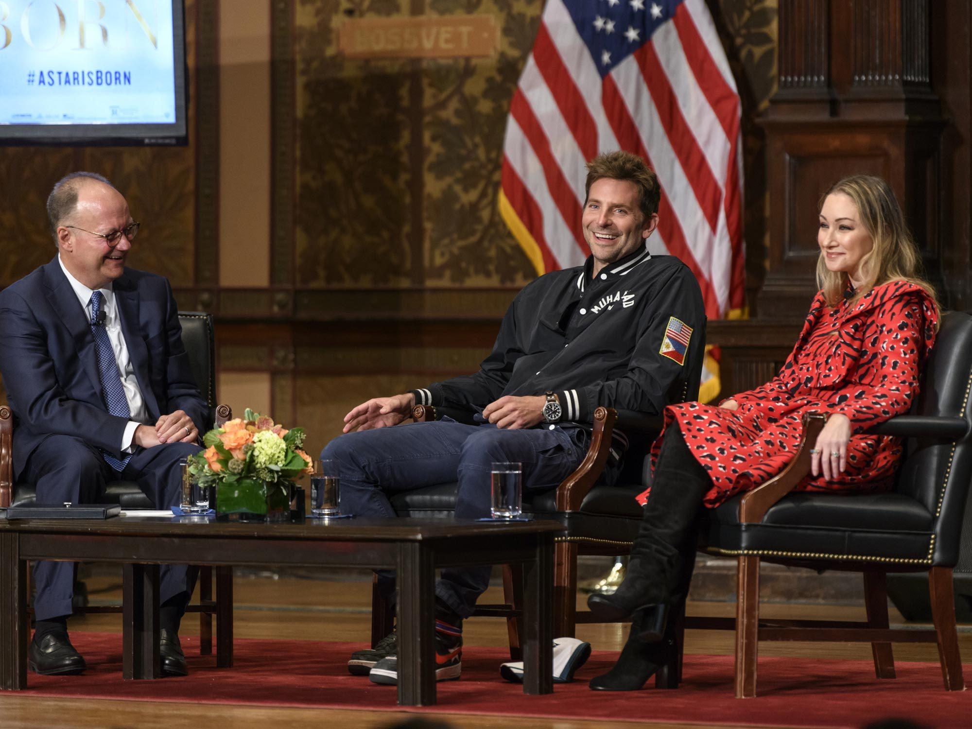 Bradley Cooper speaks in Gaston Hall