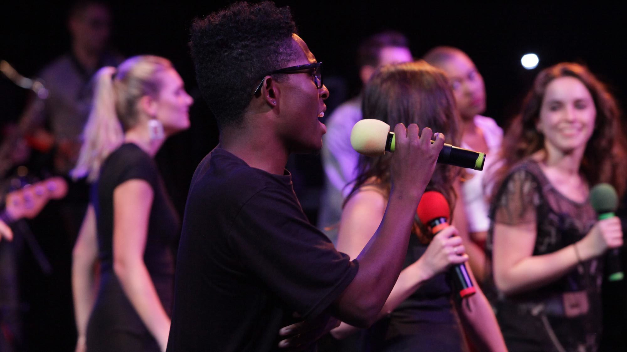 Student performs at GEMA Rocks concert.