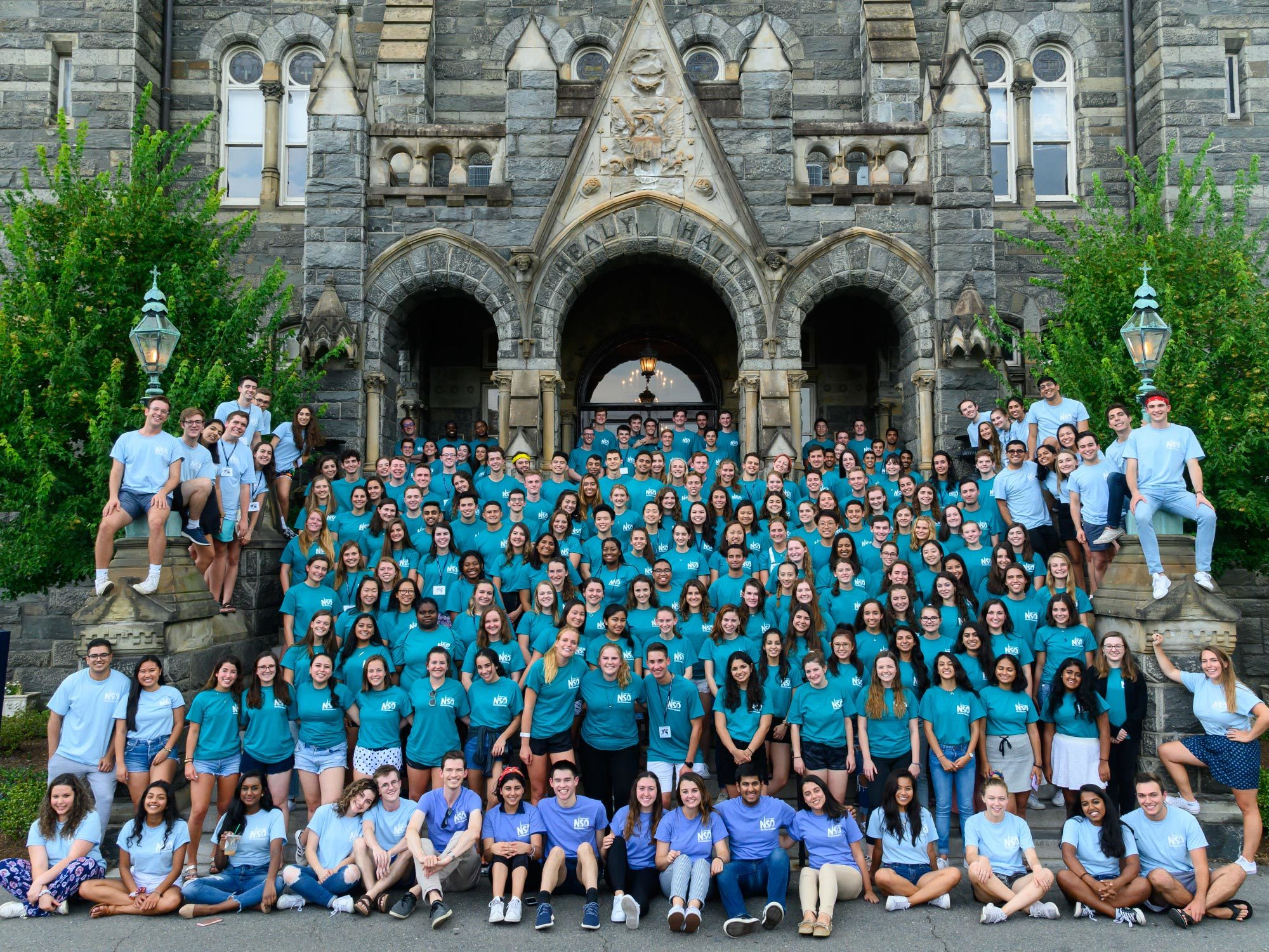 New Student Orientation advisors gather for a group photo