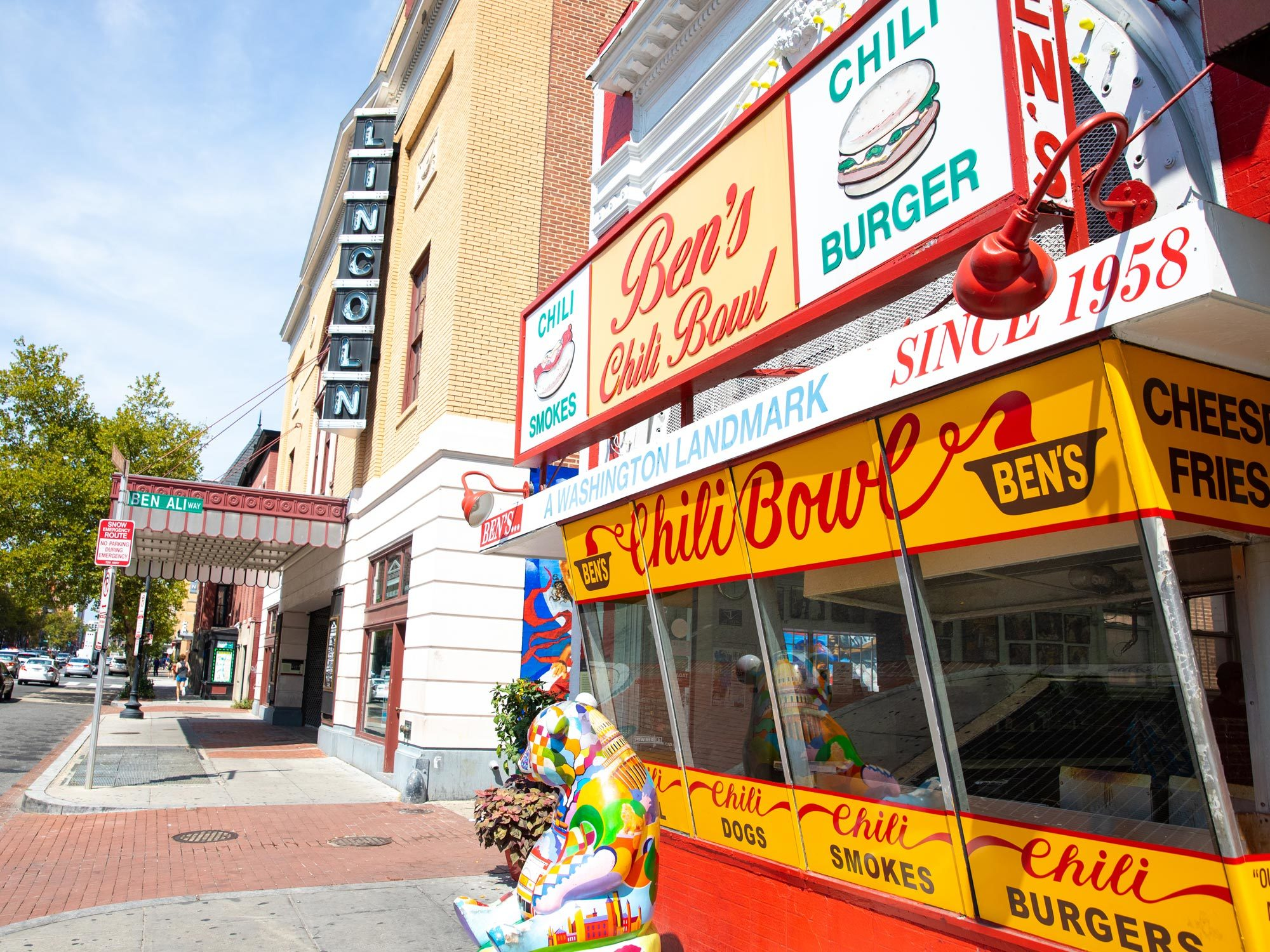 A photo of the iconic Ben's Chili Bowl restaurant.