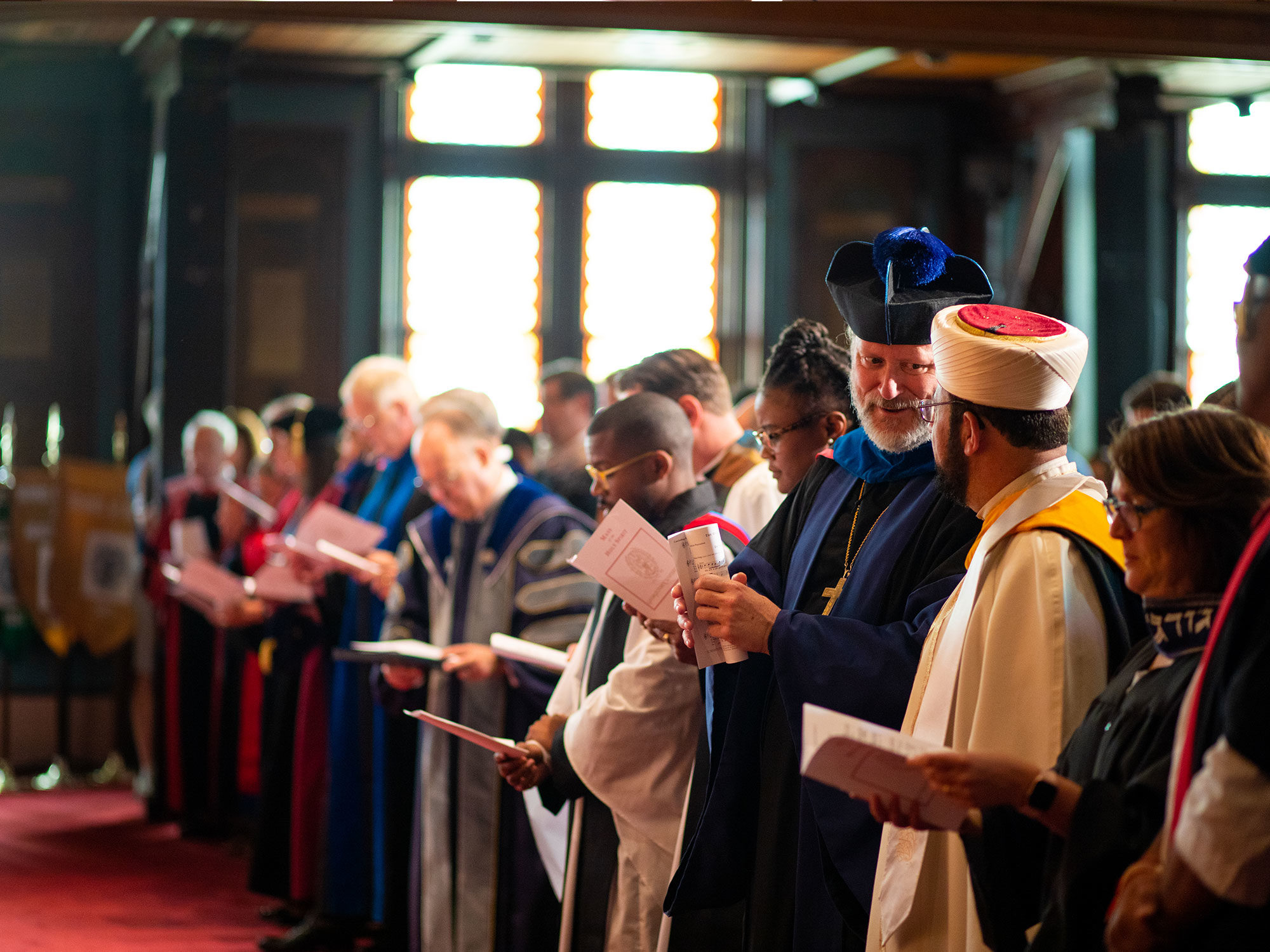 Georgetown interfaith chaplains in Gaston Hall