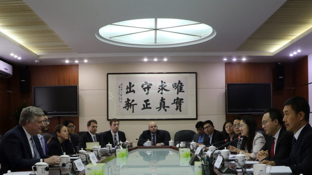 Representatives from the Development Research Center in China