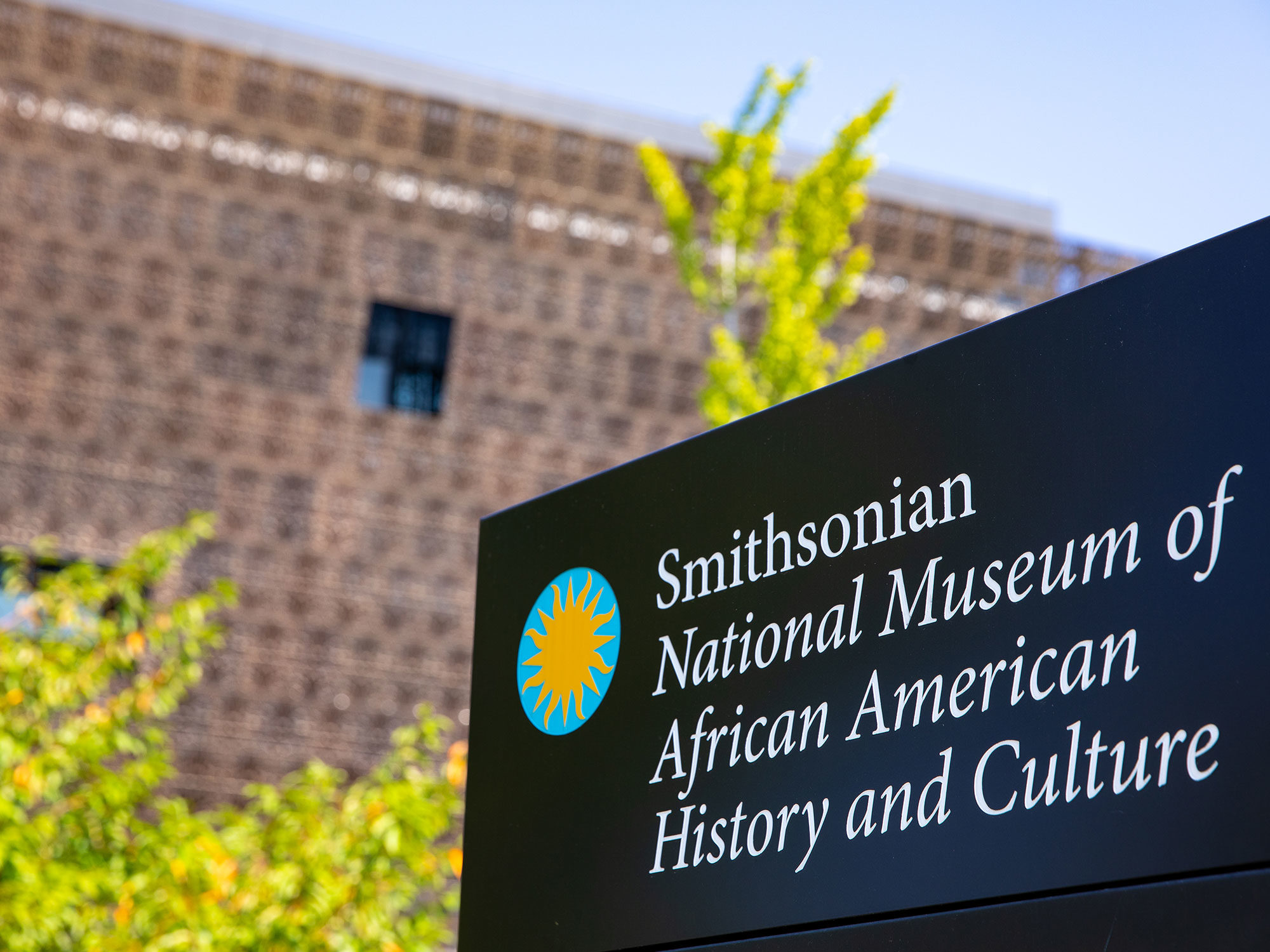 Sign in front of the National Museum of African American History and Culture