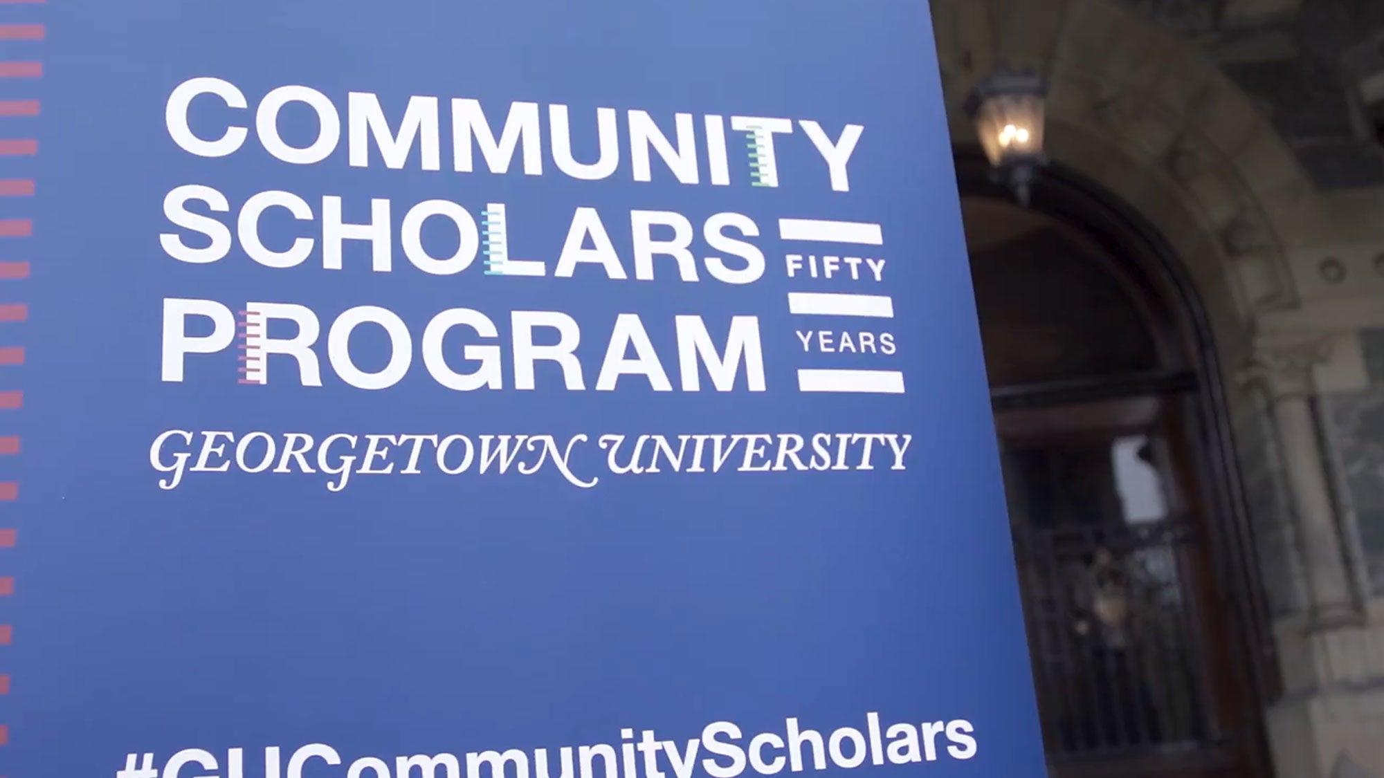 Community Scholars Program signage