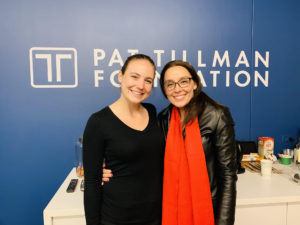 Kristi Pelzel and Taylor Colliau, Tillman Foundation marketing coordinator