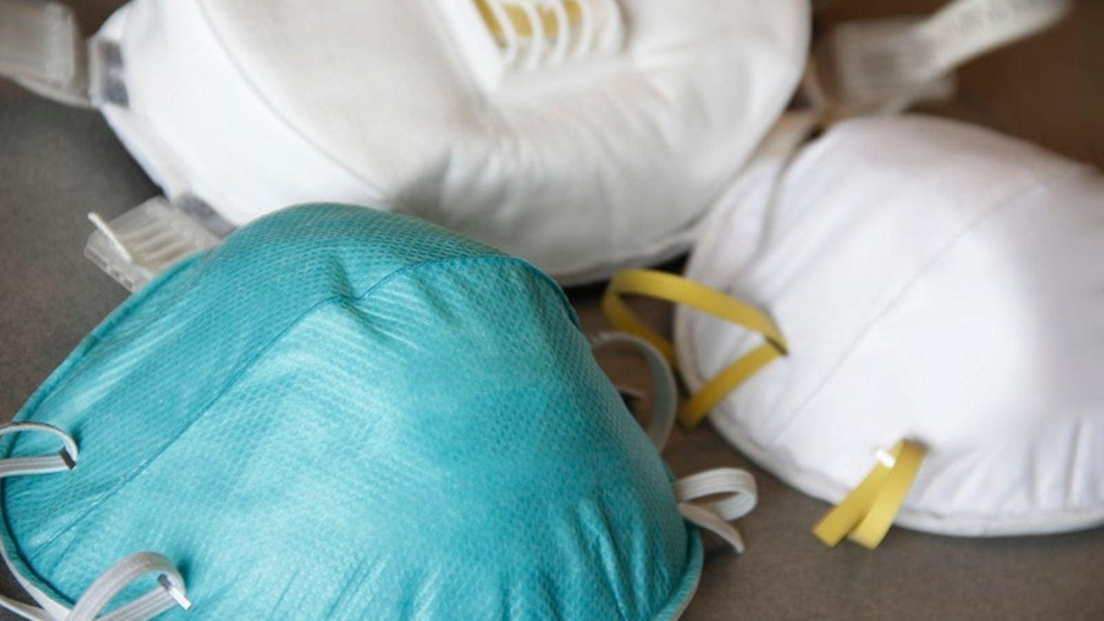 Three N95 respirator masks