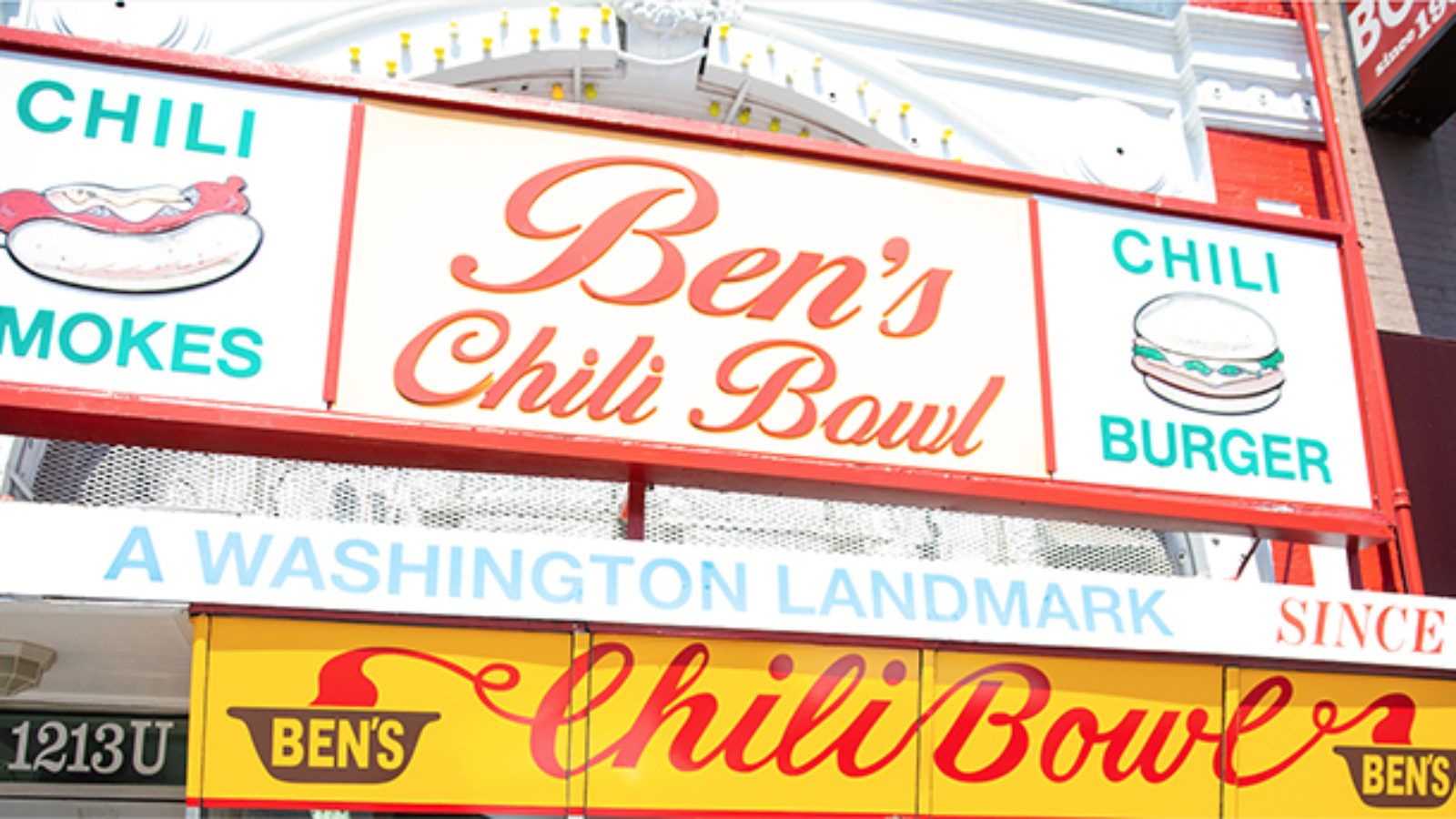 Sign for Ben's Chili Bowl restaurant