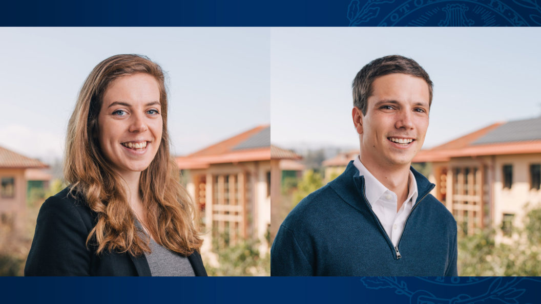 Side-by-side images of Sarah Baran and Christopher Stromeyer