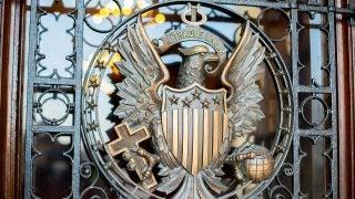 Metal Georgetown seal