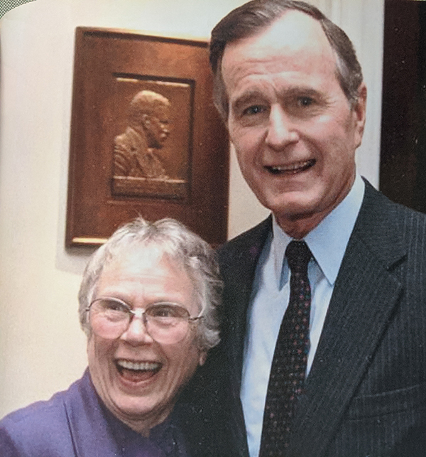 Lillian Brown with George H.W. Bush