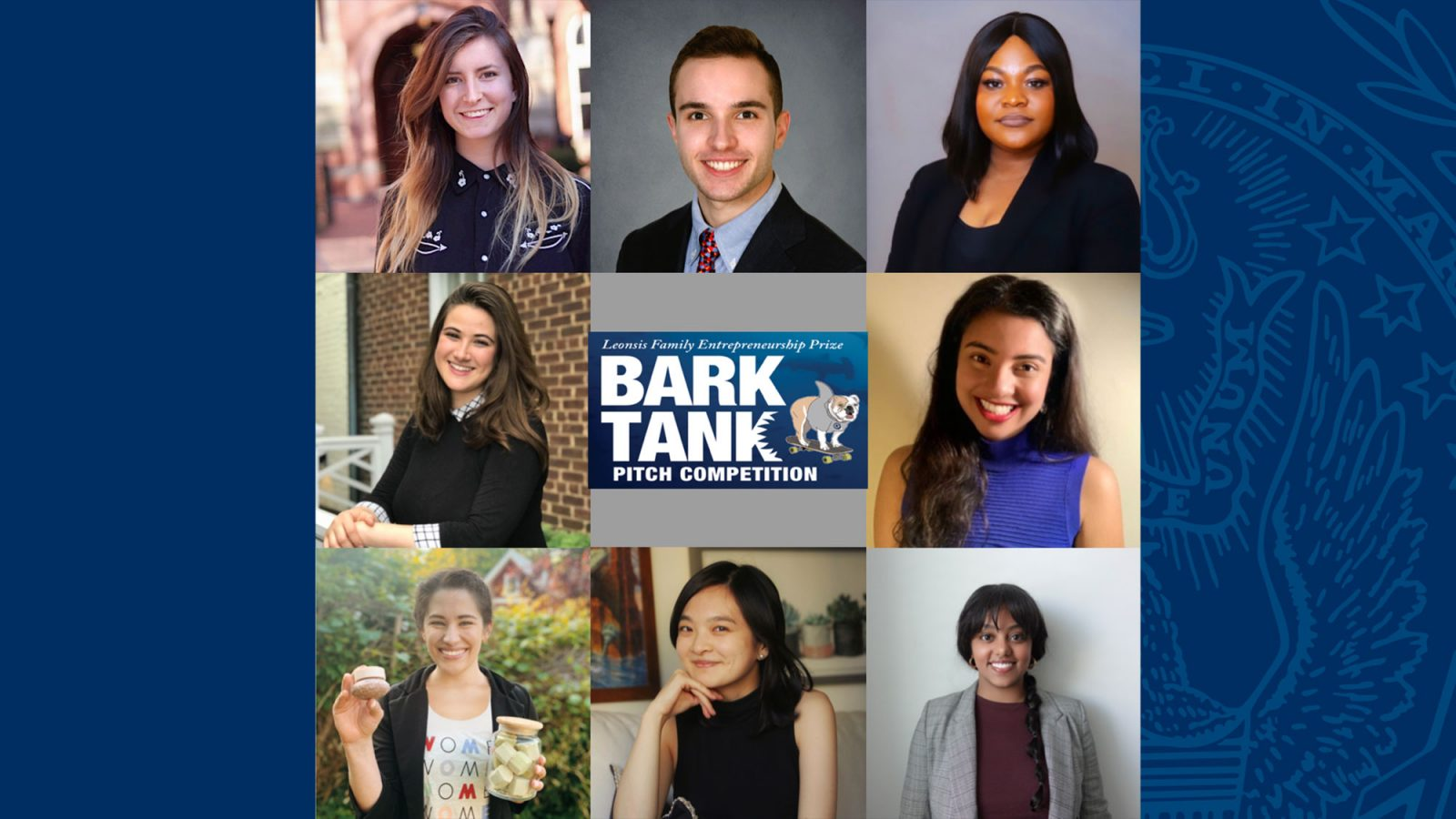 images of students with a Bark Tank logo in the middle.