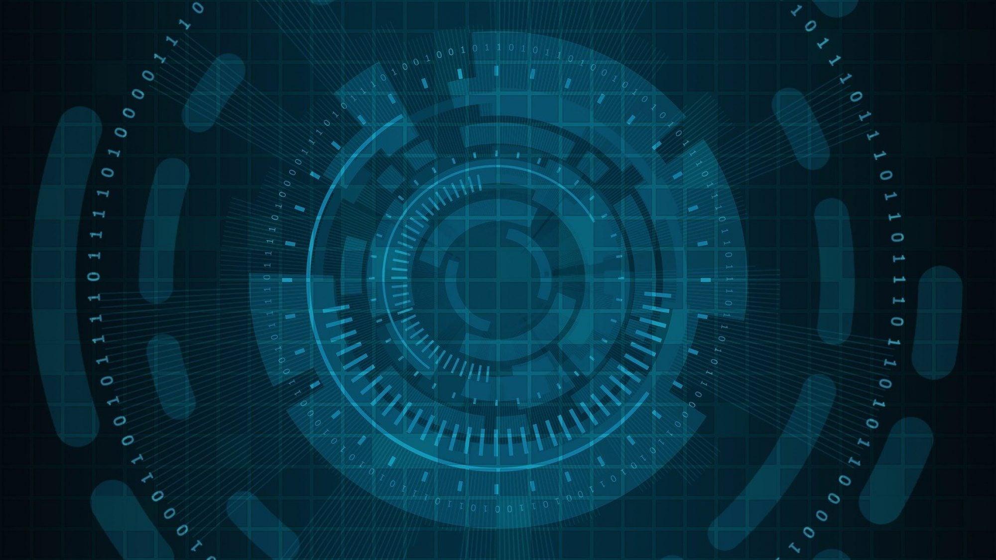 Binary Code Cyber Wheel