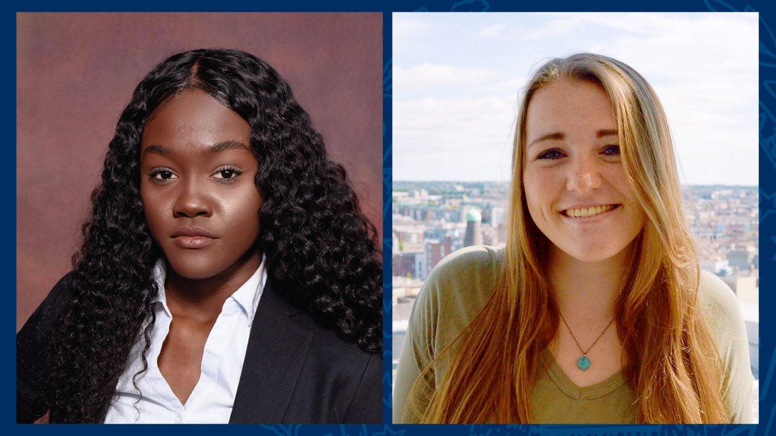Side-by-side image of deye Radia Mbengue and Emma Dorshimer.