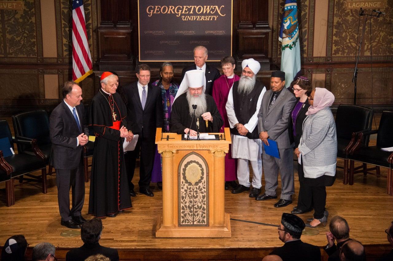 VIce President Biden speaks with faith leaders