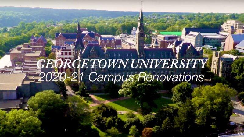 Aerial shot of Georgetown Univertsity.