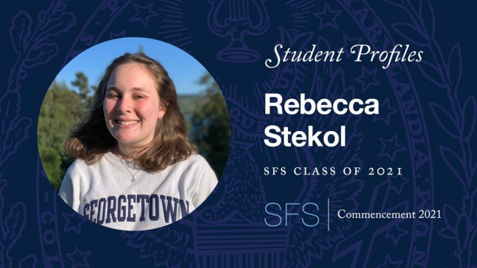 Headshot of Rebecca Stekol with the text