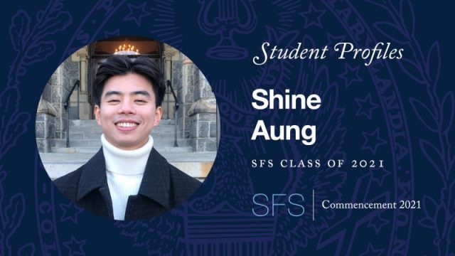 Headshot of Shine Aung with test