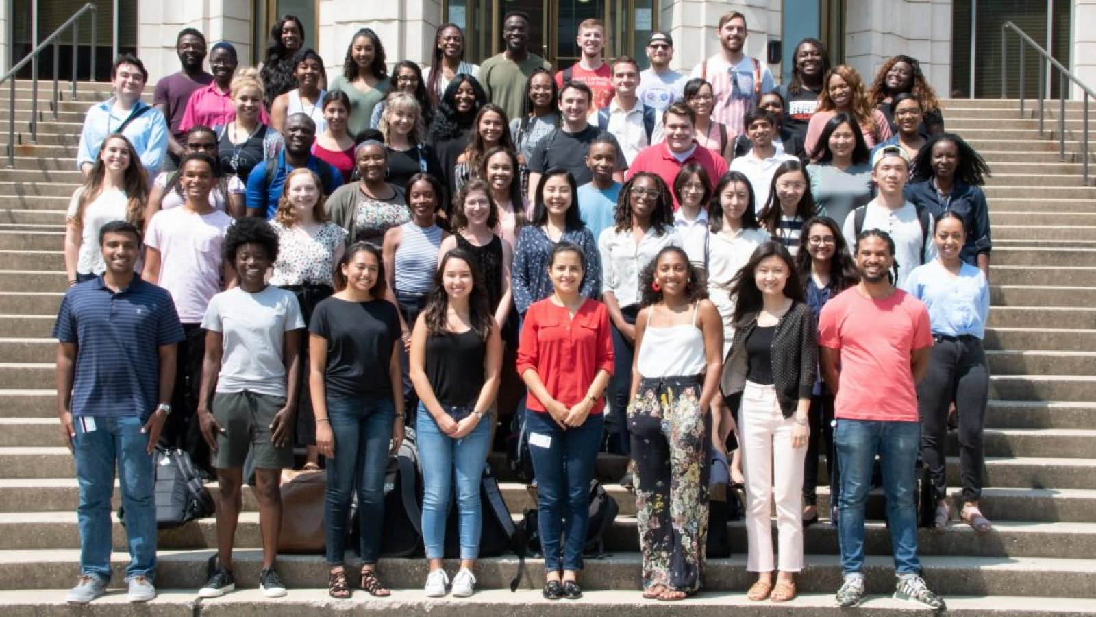 The first graduating class of RISE fellows during their August 2018 pre-orientation.