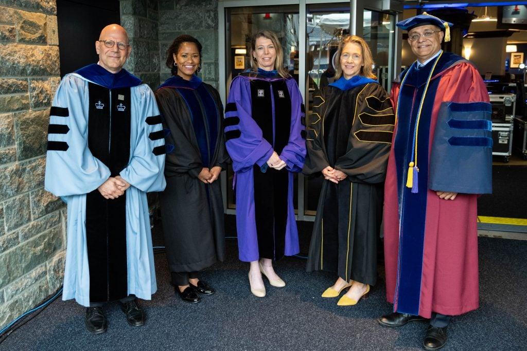 Deans of the undergraduate schools wear formal regalia