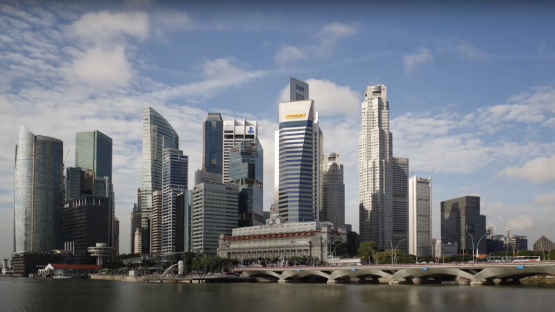Skyline of Singapore during the day