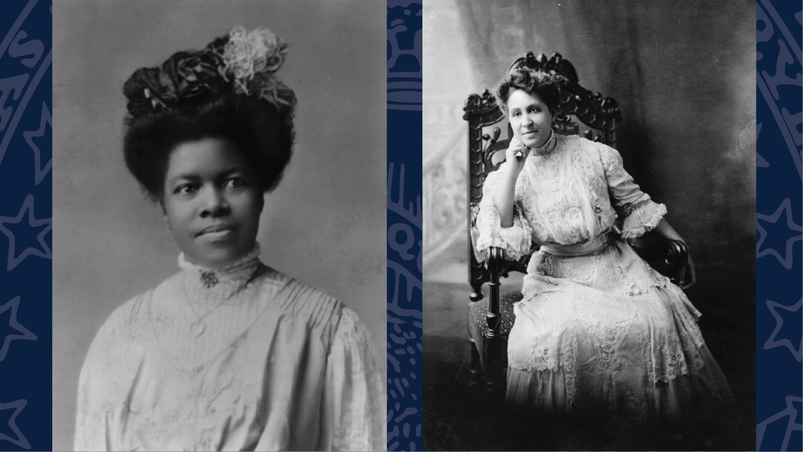 black and white photos of women from the early 1900s