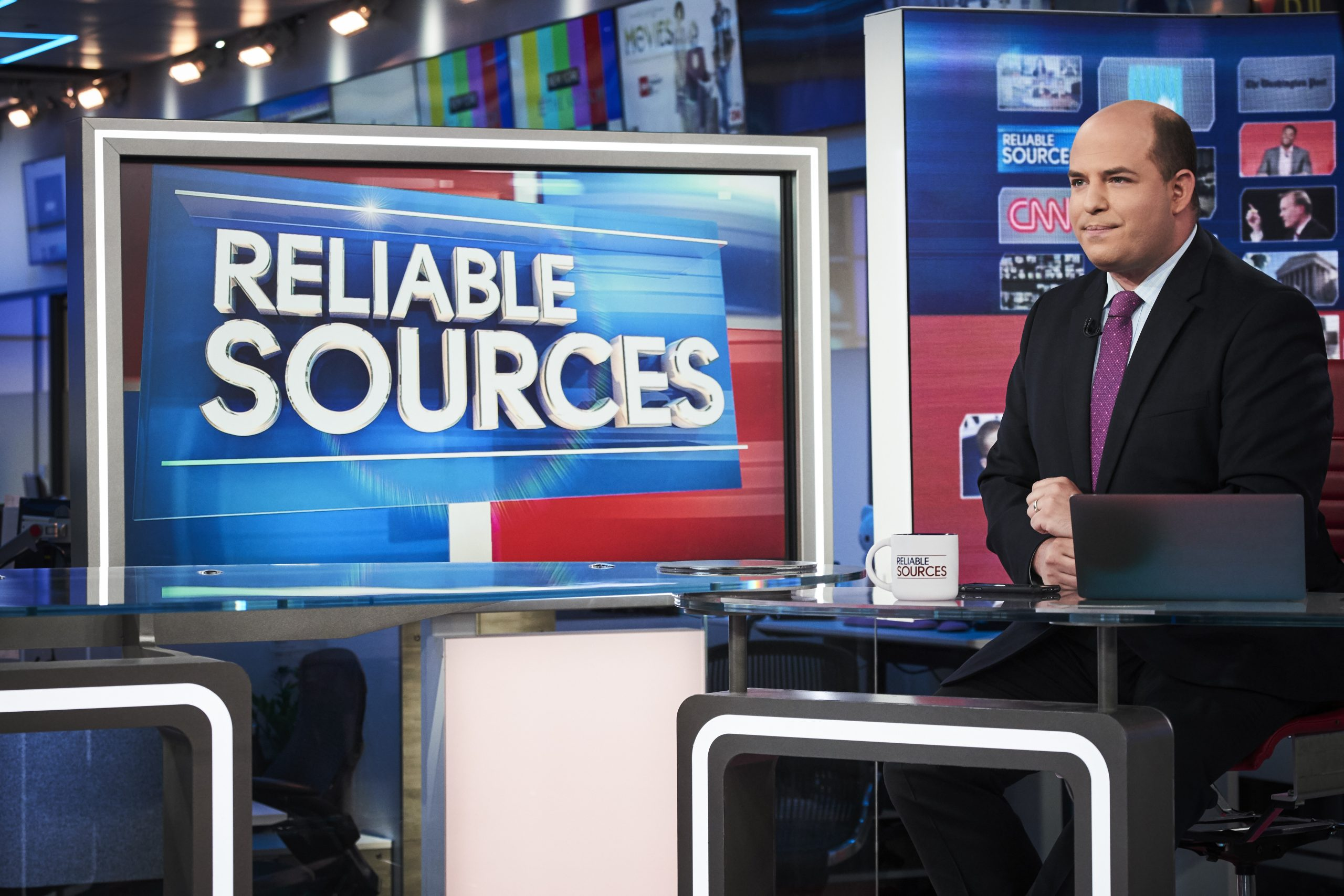 Brian Stelter on Reliable Sources at CNN studios in New York, NY.
