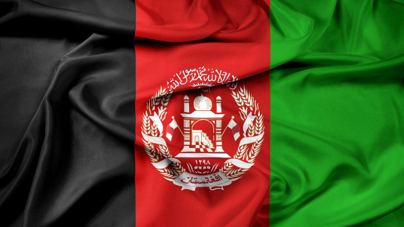 Waving Afghanistan Flag