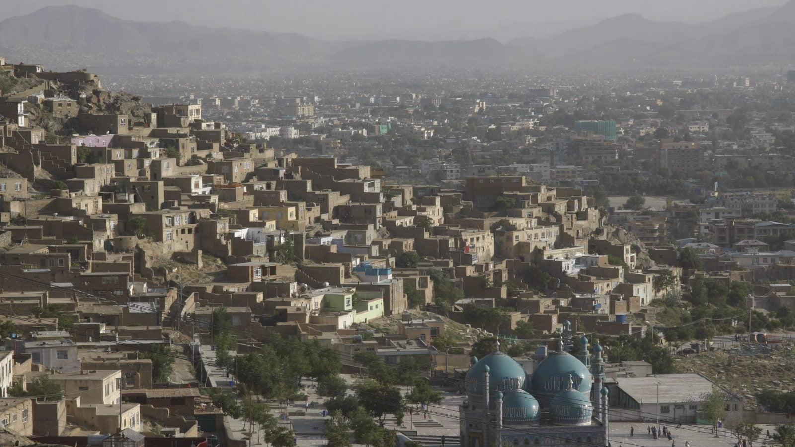 Aerial view of Kabul, Afghanistan