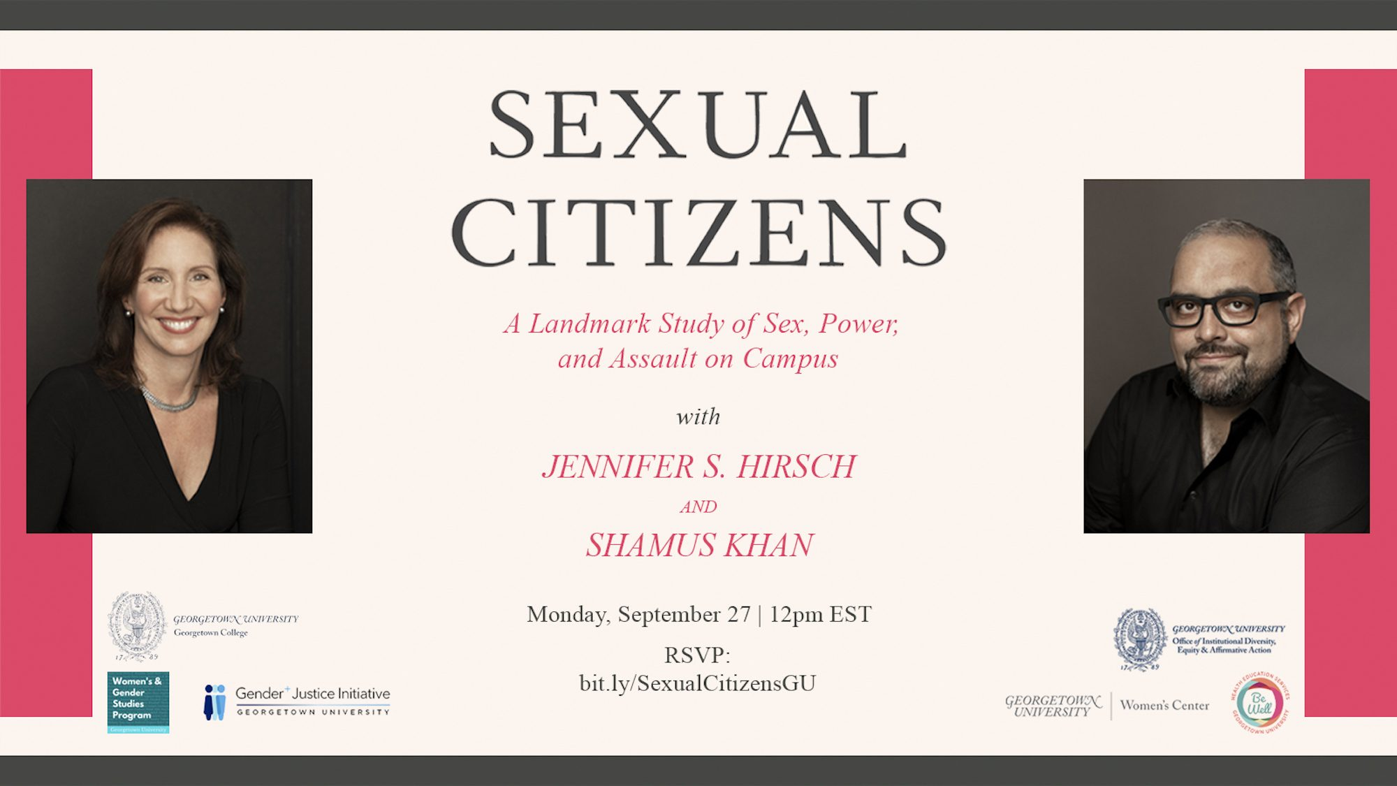 Sexual Citizens Flyer - Authors headshots and title center