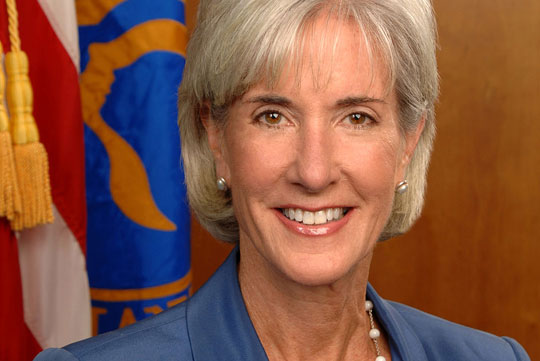 Kathleen Sebelius smiles in a headshot.