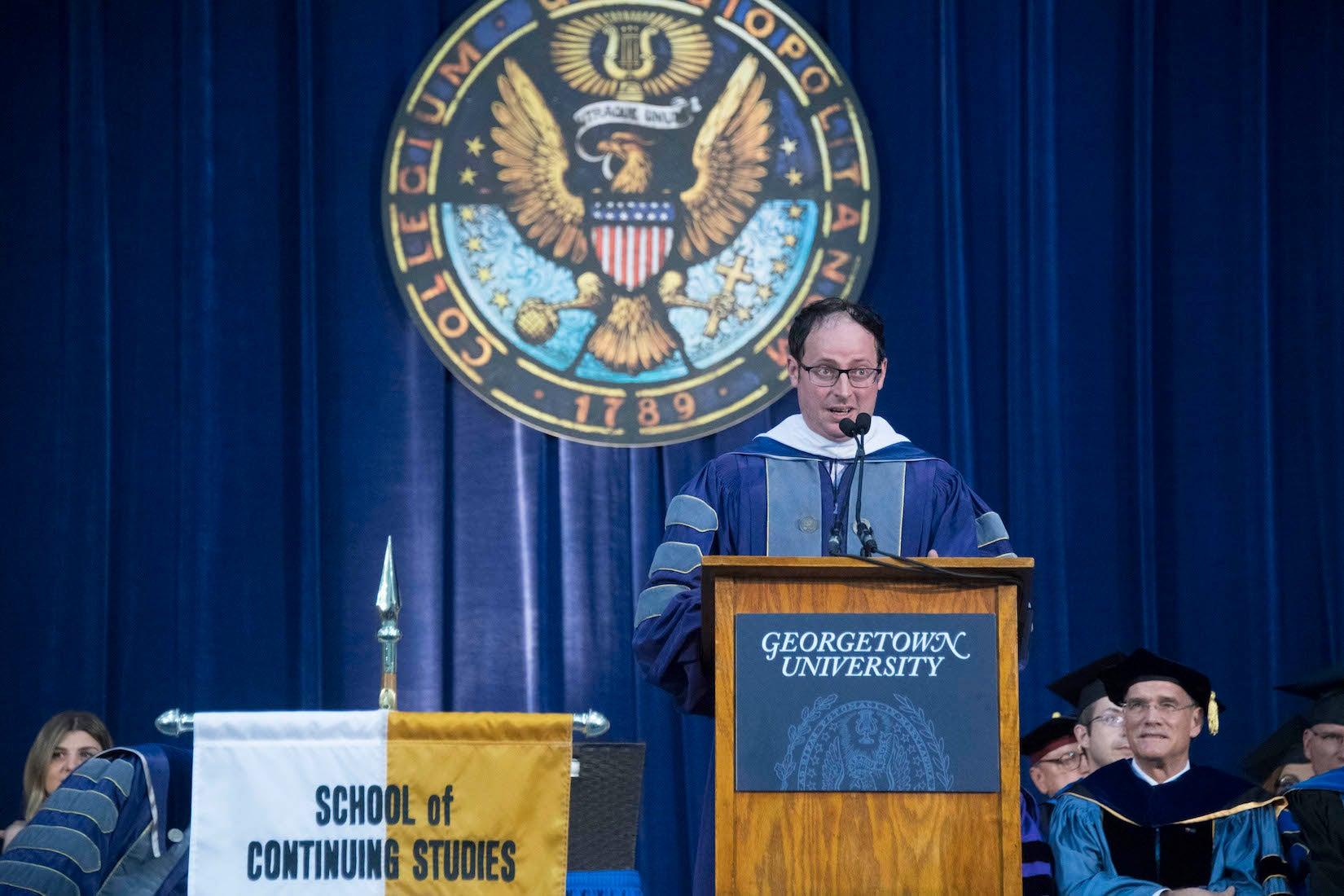Nate Silver speakings to SCS graduates.