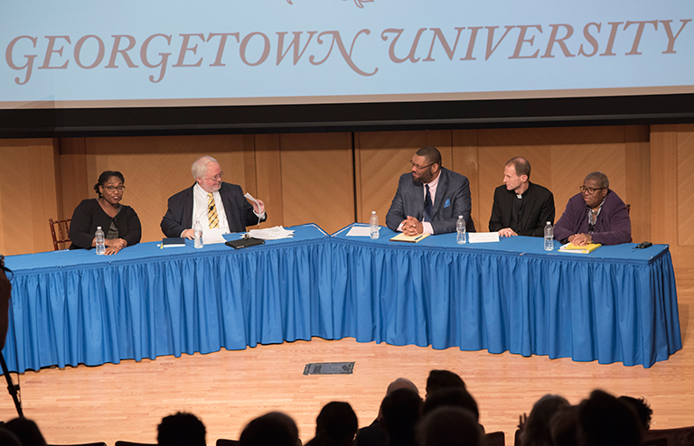 Georgetown's Initiative on Catholic Social Thought and Public Life's panel on the university's historic ties to slavery
