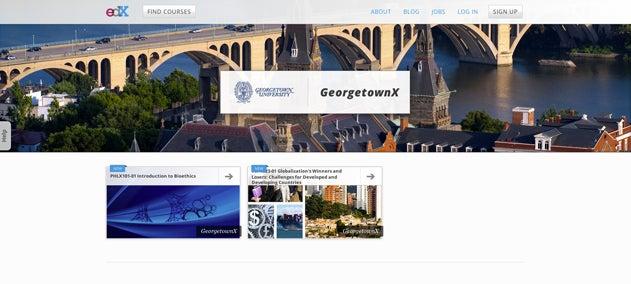 GeorgetownX Page Screenshot