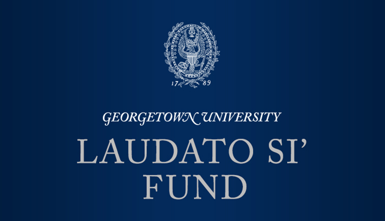 Graphic reading Georgetown University Laudato Si Fund