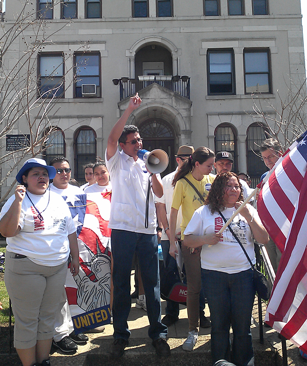 Abel Núñez and CARECEN join the March for America, a national effort to push for comprehensive immigration reform. CARECEN mobilized over 15,000 Latinos in the District, who marched from Columbia Heights and Mount Pleasant neighborhoods to the National Mall, on March 21, 2010.