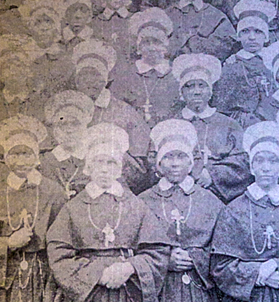 Early Oblate Sisters of Providence wearing their habits