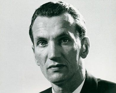 Dated black and white photo of Jan Karski.