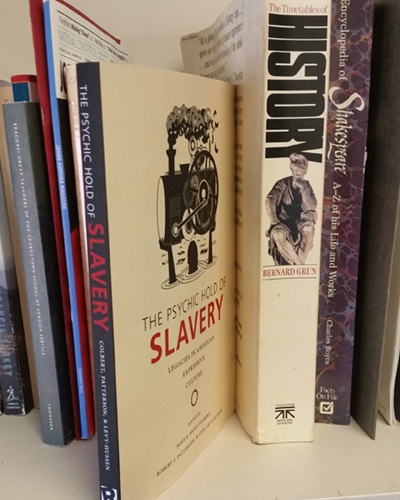 A photo of the book The Psychic Hold of Slavery.