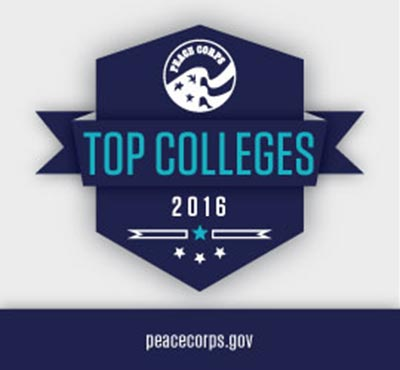 Peace Corps Top Colleges Graphic Logo