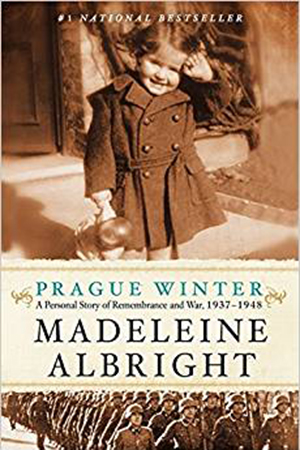 Prague Winter: A Personal Story of Remembrance and War, 1937-1948 book cover showing Madeleine Albright as a little girl
