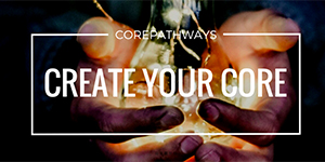"hands holding a light bulb and the words ""Create Your Core"""