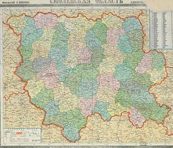 Map of Smolensk Oblast