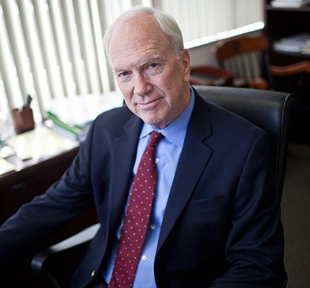 Ed Healton sits in chair.