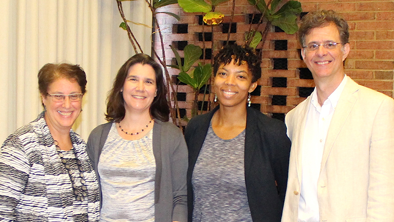 Marilyn Sneiderman, Lane Windham, Sheri Davis-Faulkner, and Joseph McCartin pose together