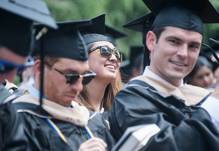MBA graduates at commencement ceremony